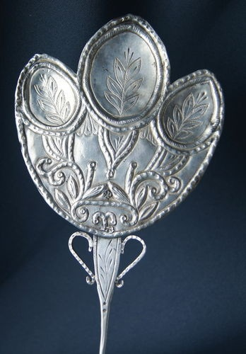 19th C South American Spanish Colonial Silver Tupo Cloak Pin