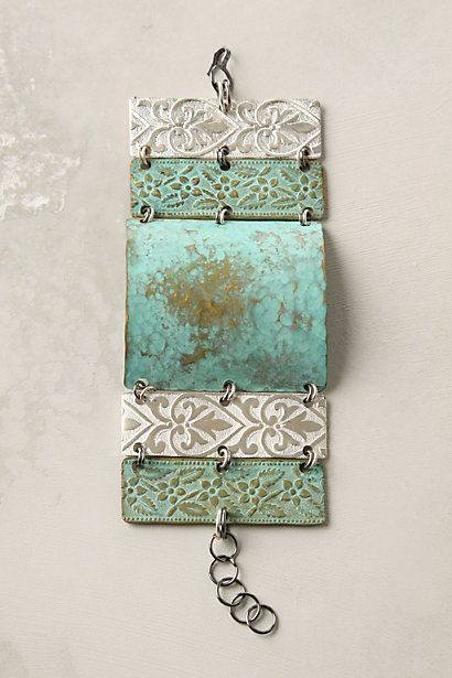 patina'd metal cuff