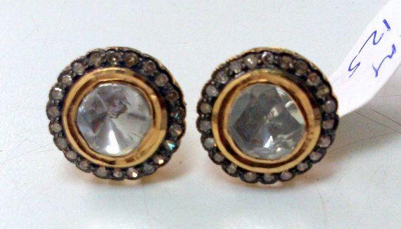 Vintage Diamond polki studs earrings