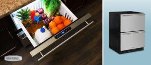 Marvel Undercounter Refrigerator Drawers