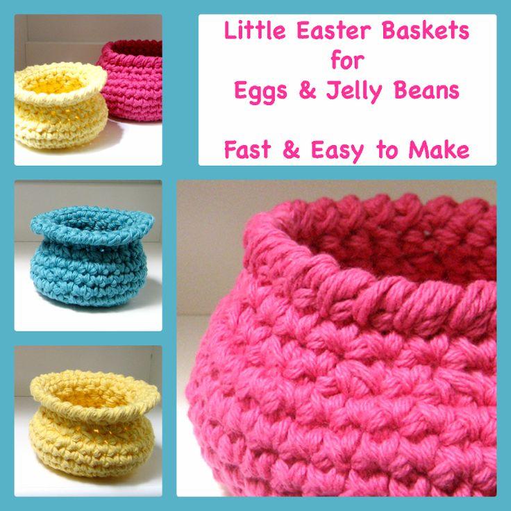 ... & Easy Crochet Baskets Crocheting, Easter egg basket and Patterns