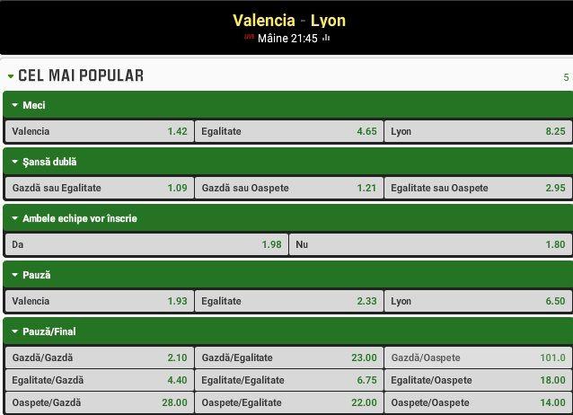 Pronosticuri fotbal Valencia - Lyon (09.12.2015) - http://biletu-zilei.com/pronosticuri-fotbal/pronosticuri-fotbal-valencia-lyon-09-12-2015/
