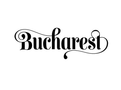 Bucharest typography