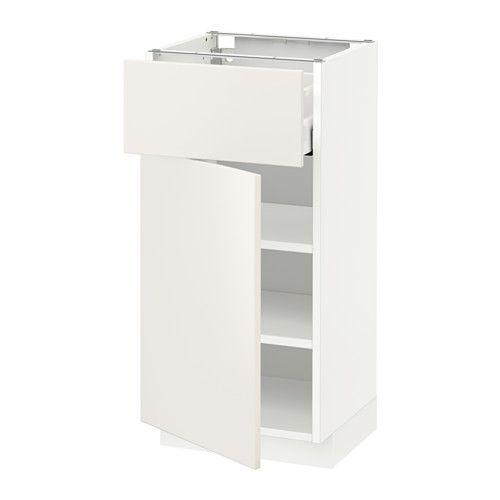 METOD / MAXIMERA Bänkskåp med låda/dörr IKEA Du kan se och nå innehållet, eftersom lådan går att dra hela vägen ut.