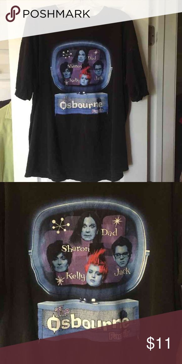 Osbourne Family T-Shirt MTV Top Shirt XL Vintage T-Shirt Top from the Ozzie Osbourne Show. Size XL. Excellent condition. AllSport Brand. 100% cotton Vintage Tops Tees - Short Sleeve