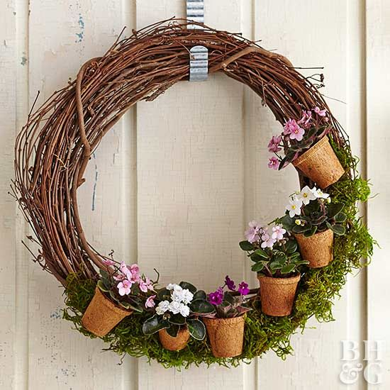 Celebrate the beauty of plants year-round with an easy-change wreath