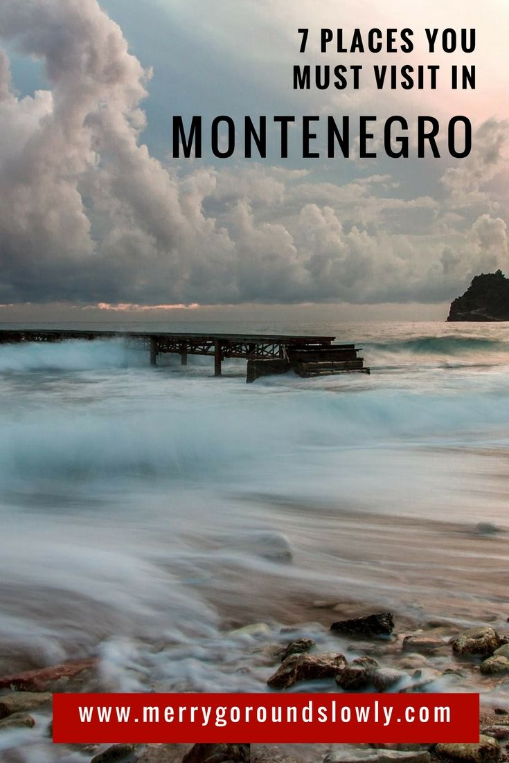 6 Best places in Montenegro: A list of best places to visit in Montenegro, including Kotor, Budva, Ulcinj Velika Plaza Beach, Lake Skadar, Durmitor and the Black Lake. #montenegro #balkans #budva #kotor #durmitor #europe #travel #inspiration