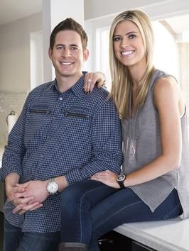 Christina and Tarek El Moussa, co-hosts of Flip or Flop on HGTV.