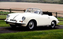 porsche 356b 1600 t- 6 roadster 1962 porsche roadster front white classic grass hedge the field