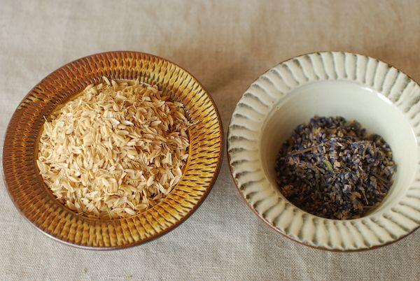 Rice husk + Lavender as Core of Temari