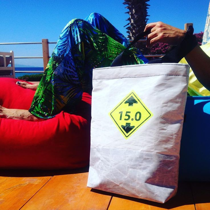 Experience sunny days in style. #thinksea #totebag #unique #handcraft #used #reused #recycle #upcycling #upcycled #urban #customize #parosurfclub #parosurfshop #tserdakia #paros #summer #colorful #shopping #madeingreece #windsurfing #sails #kiteboarding