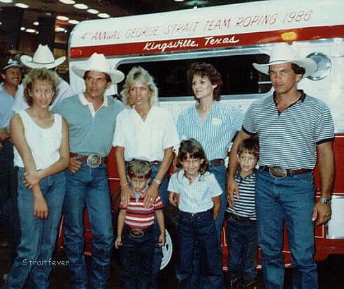 George Strait Daughter Death   Jenifer, George, & Norma Strait; Denise & Buddy Strait & Kids . 1986