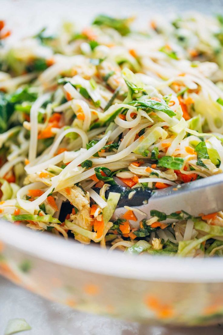 Vietnamese Chicken Salad with Rice Noodles