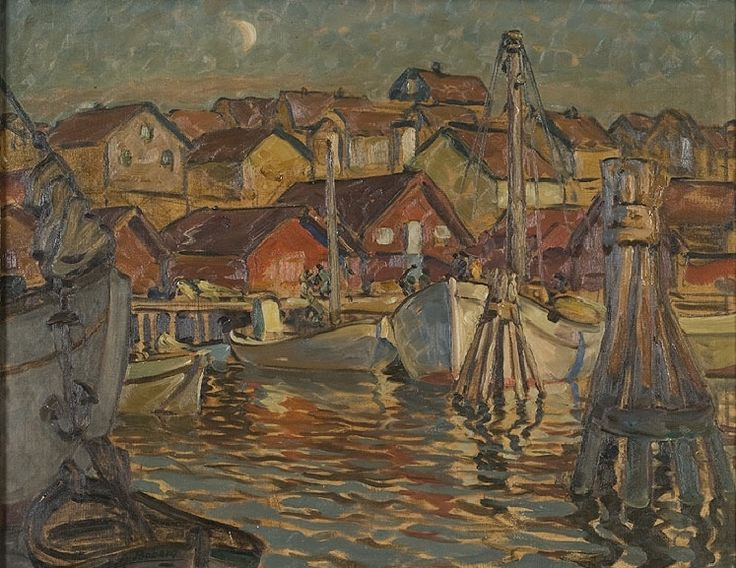 Fishing village, Nordlandet by Anna Boberg. Nationalmuseum Sweden, CC BY-SA