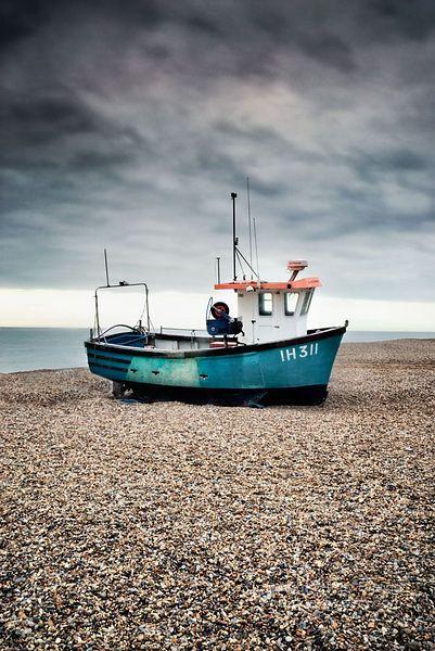 Fishing boat on aldeburgh beach, Suffolk, England. I never walked on a shingle beach til we moved to Suffolk. Quite an experience!