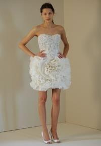 Корсетные короткие свадебное платье