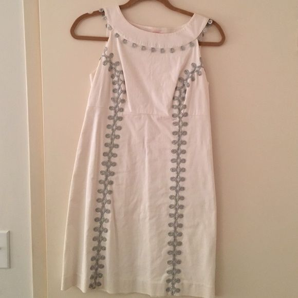 Lilly Pulitzer White Dress Silver detail Lilly Pulitzer Dresses Mini