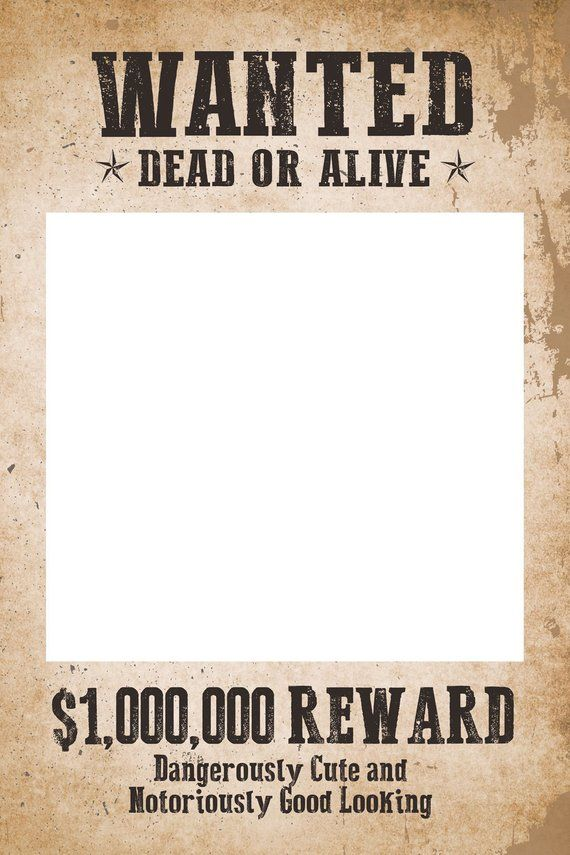 Wanted Poster Photo Booth Digital File Only In 2020 Photo