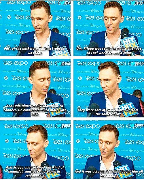 Tom Hiddleston talks about Loki's relationship with Frigga.