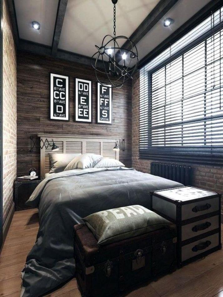 Striking Industrial Bedroom Interior Design Bedroom