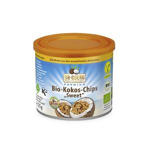 Cipsuri din Nuca de Cocos Dr GOERG. Produsul este 100% vegetal, nu contine aditivi sau conservanti. Comanda online o gama variata de alimente bio, miere de Manuka si cosmetice bio.