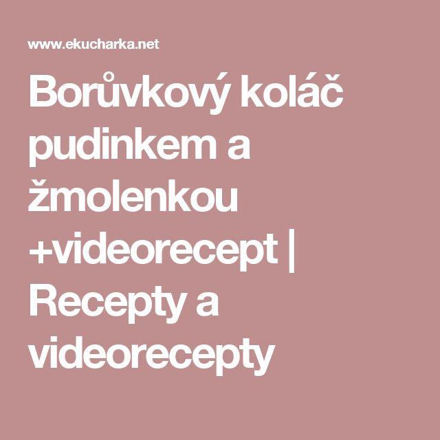 Borůvkový koláč pudinkem a žmolenkou +videorecept   Recepty a videorecepty