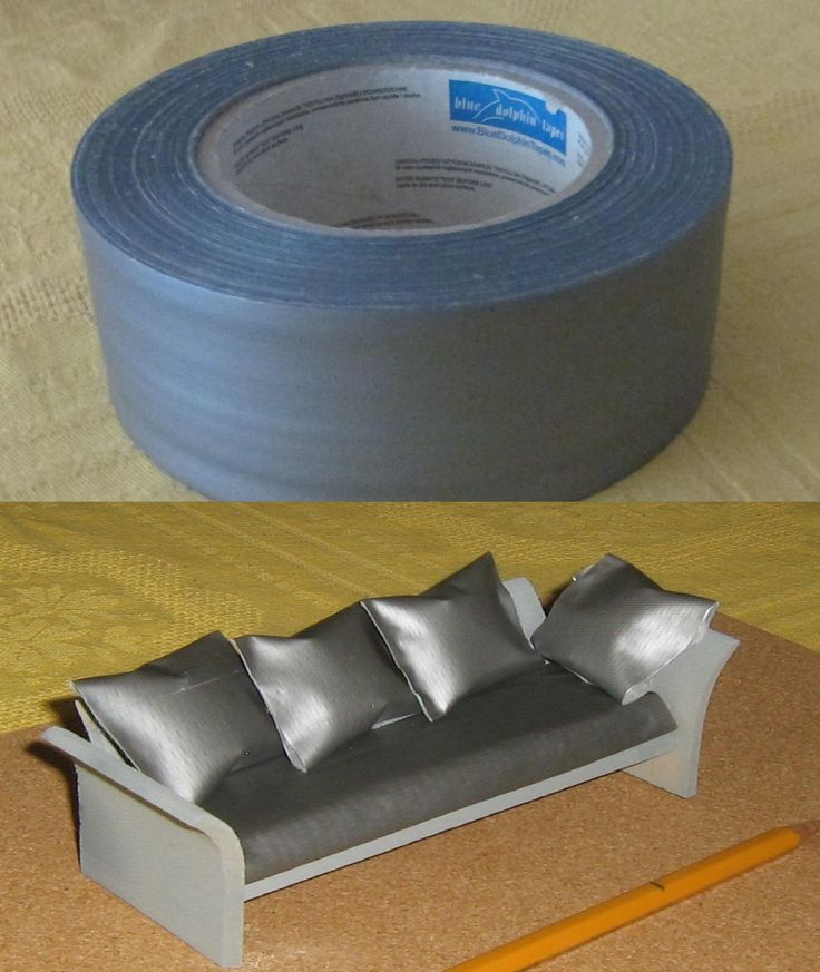 Sticky Tape As Quot Leather Quot On Sofa Inside Polystyrene In