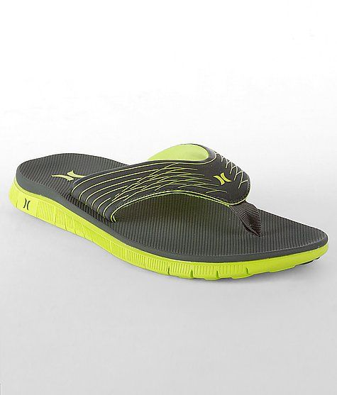 Hurley Phantom Sandal in Neon Yellow (washable/breathable and molds to your foot)