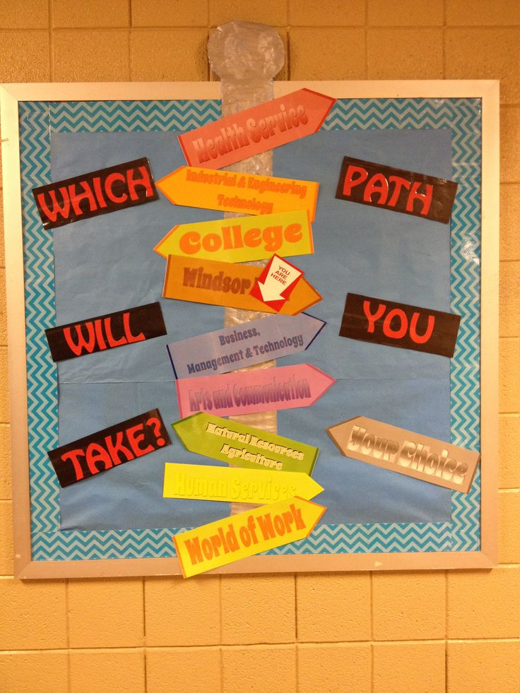 College and Career Ready Path Bulletin Board Career