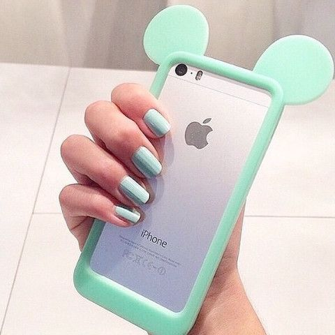 Soft, bendable silicon iPhone 6 case with adorable, kawaii mouse ears! In Mint, Pink or Black! Free shipping!