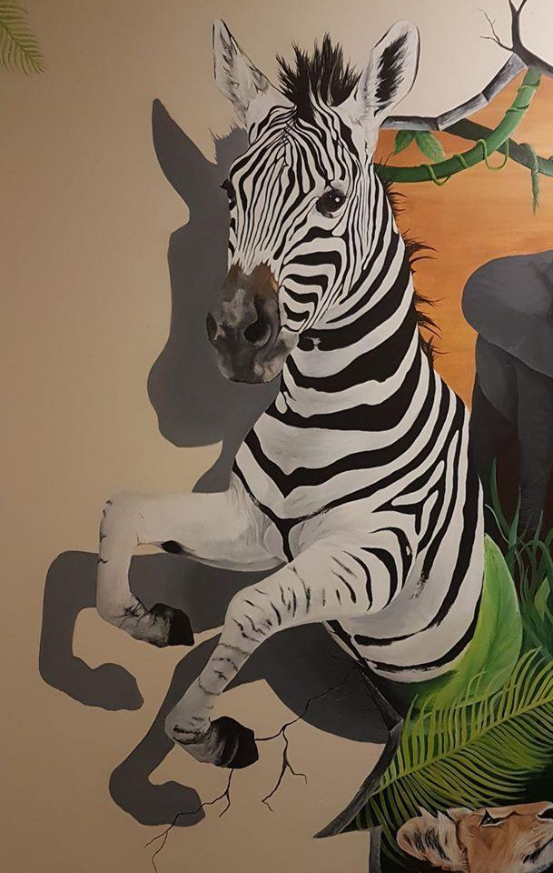 #mural#zebra#wild#animal#wall#paint