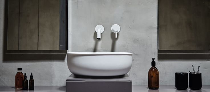Recently spotted: a luxuriously shapely bath collection from Copenhagen-based designersNorm Architects.If it feelsa little nostalgic, that's intentional