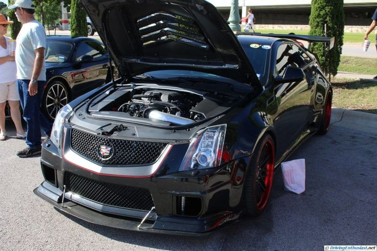 Cadillac CTS-V coupe. As seen at the July 2015 cars and Coffee show in Austin TX USA.