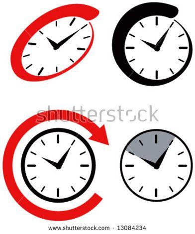 Clock icons  #clocks #retro #illustration