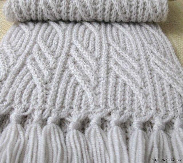 Вяжем шикарный шарф спицами + 3 узора спицами для шарфа