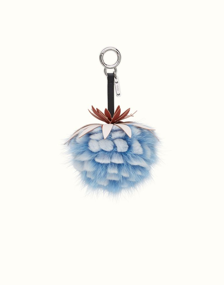 FENDI FENDI FRUITS CHARM - Charm in light blue fur