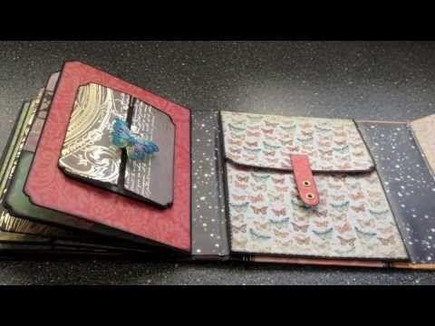 Based on Kath Orta's All Occasions Mini Album:  Mariposa keepsake mini album - YouTube