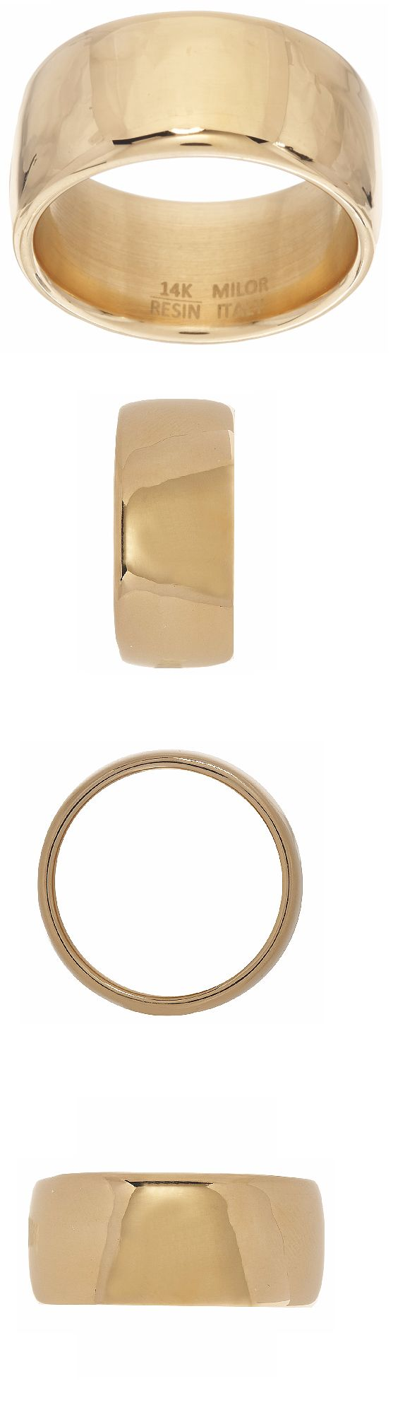 Precious Metal without Stones 164341: Oro Nuovo 14K Yellow Gold Wide Polished Band Ring Size 8 Qvc -> BUY IT NOW ONLY: $149 on eBay!