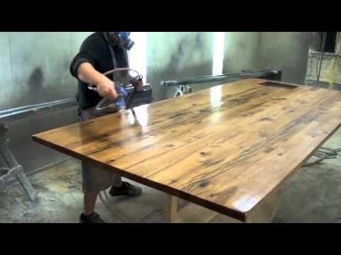 reclaimed wood top - YouTube