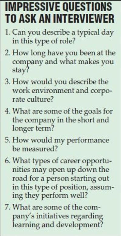 What to ask at a job interview