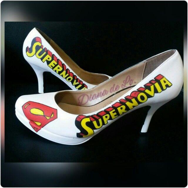 Super zapatos para boda wedding #superman