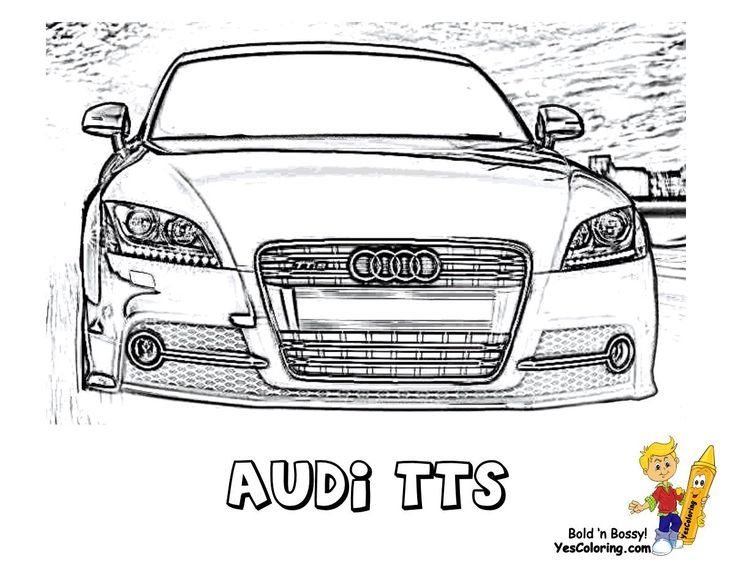 Print Out This Audi Tts Car Color In Page Slide Crayon Tell Other Coloring Kids Your Eyeballs Found Cars Coloring Pages Race Car Coloring Pages Car Colors