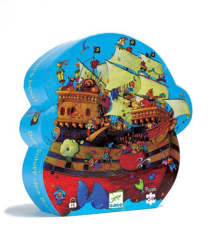 DJECO  Puzzle Silhouette Barbarossa Boat  54pc