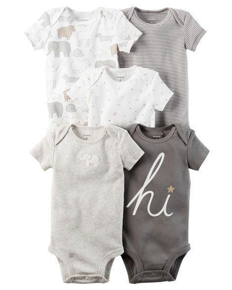 e9ceac200edb Baby Neutral 5-Pack Short-Sleeve Original Bodysuits from Carters.com ...