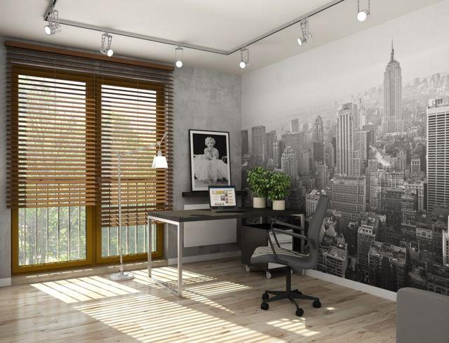 Jugendzimmer Gestalten Ideen Wand Fototapete Schwarz Weiß NYC