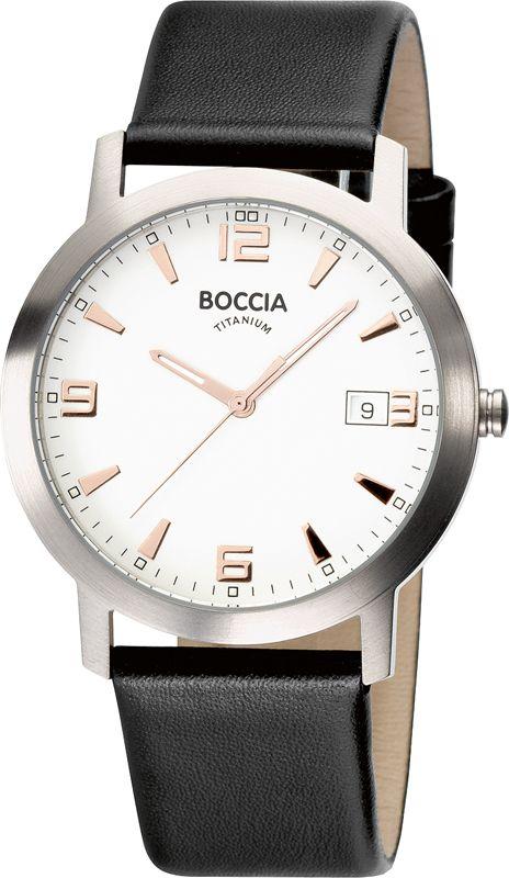 Boccia Gents Titanium 3544-02, Boccia Black & White Titanium Gents Watch for men
