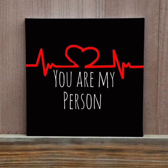 You Are My Person Canvas Home Decor Wall by LittleDoodleDesign
