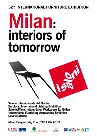Salone del Mobile 2013, 52° International Furniture Exhibition. Cosmit, Milan, Italy 2013