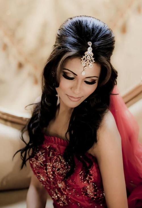 Magnificent 1000 Ideas About Indian Bridal Hair On Pinterest Indian Bridal Hairstyle Inspiration Daily Dogsangcom