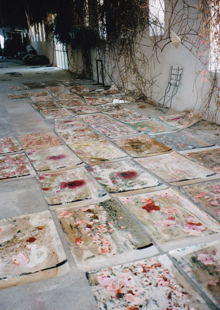 Anselm Kiefer's studio, 1998